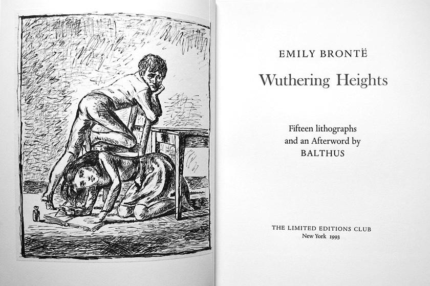 Wuthering Heights con 15 litografie di Balthus