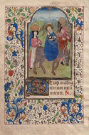 Illuminated Manuscript: Flight into Egypt